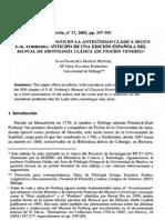 SOBRE EL CUNNILINGUS EN LA ANTIGÜEDAD CLÁSICA SEGÚN F.-K. FORBERG. ANTICIPO DE UNA EDICIÓN ESPAÑOLA DEL MANUAL DE EROTOLOGÍA CLÁSICA (DE FIGURIS VENERIS)