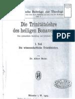 Albert Stohr, Die Trinitätslehre des heiligen Bonaventura, Aschendorff, 1923