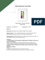Henri Matisse Paper Cut Out Lesson Plan