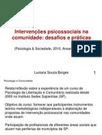Artigo,Intervencoespsicossociaisnacomunidade