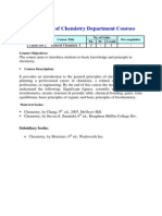KAU Curriculum of Chemistry