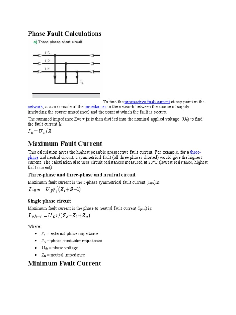 Phase Fault Calculations How To Find A Short Circuit