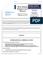 War Crimes Prosecution Watch, Vol. 8, Issue 24 -- February 24, 2014