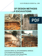 review of design metods for excavation