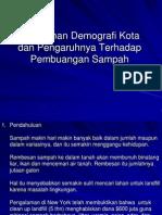 (1c) Perubahani Demografi Kota Dan Sampah