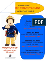 Fire Training 3rd-6th March 2014