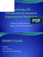 Lecture 1 Overview of IO Psychology