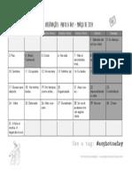 Calendário - Março 2014