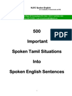 11721163 500 Important Spoken Tamil Situations Into Spoken English Sentences Sample