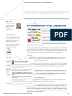 How to Write Resume Foreign Language Skills - Radiant Resume Services