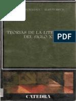 TEORÍAS DE LA LITERATURA DEL SIGLO XX - D. W. Fokkema y Elrud Ibsch