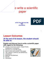 2013 NEW How to Write a Scientific Paper
