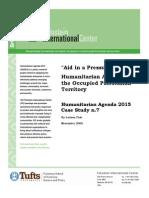 HA2015 Occupied Palestinian Territories Case Study