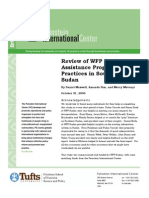 Review of WFP Food Assistance Programming Practices in Southern Sudan