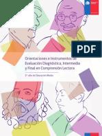 Orientaciones e Instrumentos de Evaluación Diágnostica, Intermedia y Final en Comprensión lectora (1° medio)2014