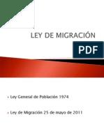 LEY DE MIGRACIÓN