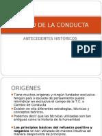Antecedentes Historicos Cambio de La Conducta