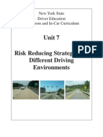 7 nysdtsea unit 7 risk reducing strategies for different driving environments