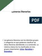 Géneros literarios.corregido