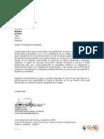 Carta Modelo 1