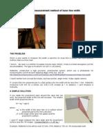 A simple measurement method of laser line width