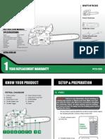 Ozito Chainsaw PCS 305 Manual ED5 Online