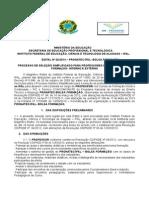 Edital 02 2014 Professores PRONATEC