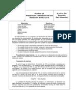 Preparación y valoración de una disolucion de NCl   0.1 N