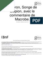 Commentaire sur le songe de Scipion - Macrobe - Cicéron
