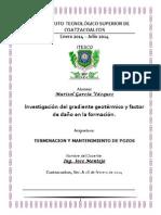 Gradiente geotérmico y factor de daño