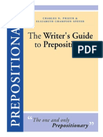The Writer's Guide to Prepositions