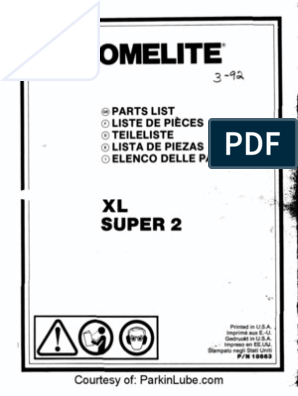 XL Super: ®Parts List