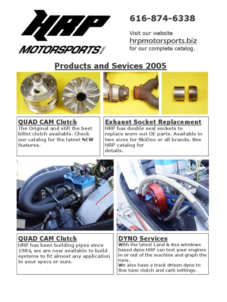 HRP Motor Sports Products and Services Catalog | Belt (Mechanical) | Clutch