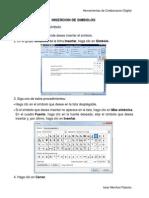 Inserción de símbolos - Secciones - Numero de paginas