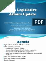 spring 2012 legislative affairs update
