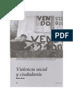 Violencia Social y Ciudadanía, Miguel Giusti