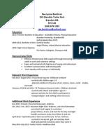 rae resume
