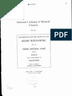 Wieniawski - Variations on an Original Theme Op 15 Piano
