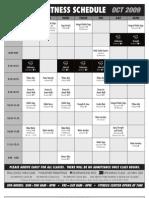 Fitness Schedule Oct 2009