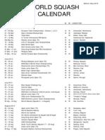WSF - CALENDÁRIO 2013