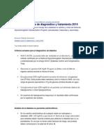 Diabetes Normas de diagnóstico y tratamiento 2014