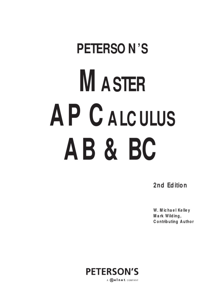 Master the AP Calculus AB & BC, 2nd Edition (Peterson's Ap