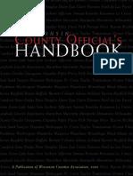 Wisconsin County Officials Handbook.