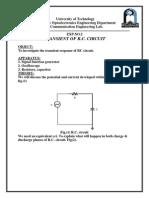 Transient of r.c. Circuit