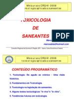 TOXICOLOGIA DE SANEANTES