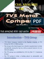 Fin Analysis - Tvs motor company