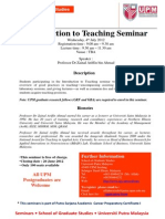 Introduction to Teaching Seminar