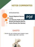 Gastos Corrientes Admón. Financiera II