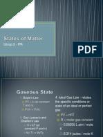 States of Matter - IPA Grp 2