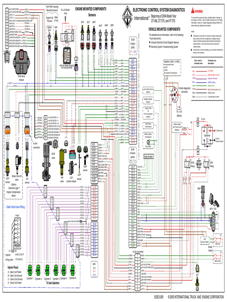 diagrama dt466e egr fuel injection switch 1985 Chevy 305 Engine Wiring Diagram  2004 international 4300 ecm wiring diagram international ecm wiring diagram Cummins ISX ECM Wiring Diagram